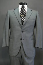 Vtg 1985 A CARACENI Bespoke Hand Made Suit 40S Huddersfield Wool 3/2 Roll
