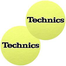 Slipmats Technics Jaune - Noir Logo (1 Paire / 1 Pair) NOUVEAU + OVP
