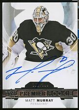 2015-16 Upper Deck Premier MATT MURRAY #/399 Rookie Auto Penguins !