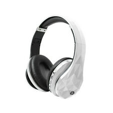 Cocoon White Wireless Bluetooth Headphones with Microphone, SD Card Slot, 3.5mm