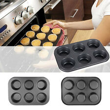 6 Cups Non Stick Muffin Cake Pan Cupcake Baking Pudding Mould Bakeware Tray OE