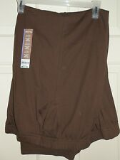 New Womens size 2XL Petite Dark Brown Knit Pants White Stag 20 20P Pockets
