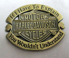 Metal Pin Badge USA Biker Sportster FatBoy Cruiser Bobber Chopper - Understand