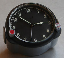 8-day Soviet AirForce Cockpit Clock 122CS / 122ChS (ORIG) for Russian MiG/Su jet