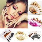 10x Oval Cream Puff Toothbrush Shaped Makeup Pinsel Set Foundation Brush