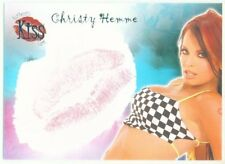 "CHRISTY HEMME ""KISS CARD"" BENCHWARMER 2007 SERIES 1 WWE DIVA TNA KNOCKOUT"