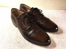 Bally Trino mens brown leather cap toe shoe size 10 D Good Shape!