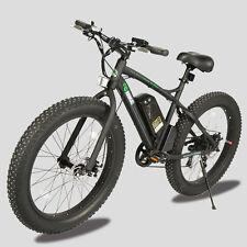 "26"" Fat Tire Wheel Bike 36V 500W Black Beach Mountain electric Bicycle moped"