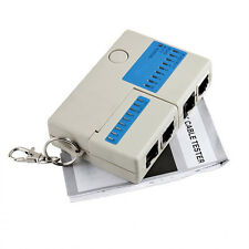 Mini RJ45 RJ11 Cat5 Telephone Phone Network LAN Cable Wire Test Tester Keychain