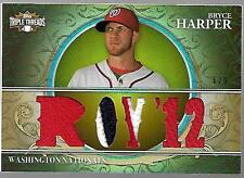 Bryce Harper 2013 Triple Threads 3x Color/ 6x Patch #6 / 9 $RARE$ BRYCE HARPER