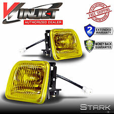 96-98 Honda Civic EK JDM Yellow Fog Lights Front Bumper Lamps FULL KIT SET PAIR