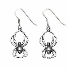Sterling Silver Spider Wire Earrings - SE642