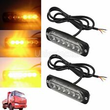 2x12/24v Amber Recovery Strobe 6 CREE LED Light Breakdown Flashing Orange Beacon