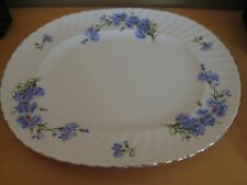 "ROYAL ADDERLEY FINE BONE CHINA CORNFLOWER 13"" OVAL SERVING PLATTER"