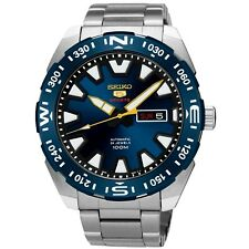 NEW MEN'S BLUE DIAL 100M SEIKO 5 SPORTS 24 JEWEL 4R36 AUTOMATIC WATCH SRP747K1