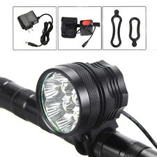 14000 Lumen 2x CREE XM-L U2 LED Bike Bicycle Headlight Headlamp Light 6x18650