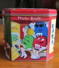 M & M Happy Holidays ! collectible tin box with lid , limited edition 2004
