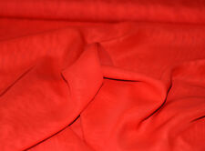 TISSU MOUSSELINE 100% POLYESTER ROUGE au METRE