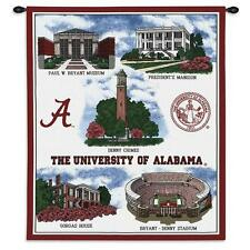 UNIVERSITY OF ALABAMA Woven Campus Scene Wall Tapestry