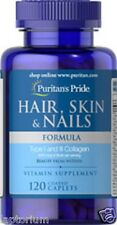 Puritan's Pride Hair, Skin & Nails Formula x120 Capsules VITAMIN SUPPLEMENT