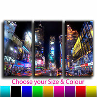 New York Time Square Treble Canvas Wall Art Picture Print 20