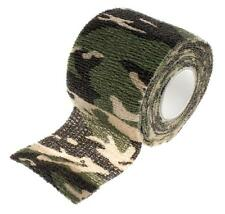 LOT DE 4 RUBAN ADHESIF ETIRABLE REUTILISABLE CAMOUFLAGE WOODLAND AIRSOFT PR