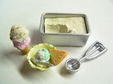 Re-ment dollhouse miniature home made ice cream scoop 2004
