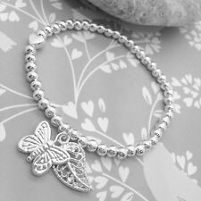 Life Charms Butterfly Charm Bracelet – Silver Plated - Gift Box & Card Jewellery
