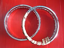HONDA ST90 K0 K1 K2 1973-1975 FRONT & REAR WHEEL RIM SET GENUINE PARTS (bi)