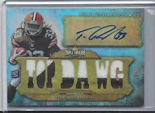 TRENT RICHARDSON 2012 TOPPS TRIPLE THREADS TOP DAWG JUMBO PATCH AUTO RC #D 1/1