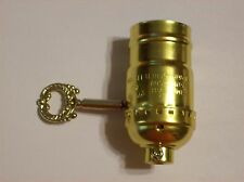 BRASS PLATED 3 TERMINAL SOCKET WITH METAL TURN KEY NEW LAMP PART 306265K