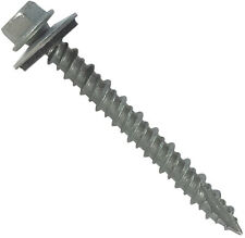 "METAL ROOFING SCREWS: 3"" Long (250) Bulk Galvanized Zinc Sheet Metal Roof Screws"