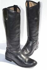 Frye Melissa Button Black Leather Boots Size 6 B
