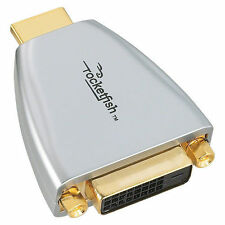 ROCKETFISH RF-G1173 FEMALE DVI TO HDMI ADAPTER ADAPTOR 24K GOLD PLATED