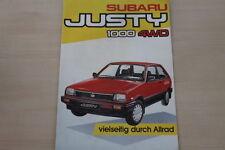 155584) Subaru Justy 1000 4WD Prospekt 198?
