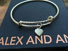 ALEX and ANI AMERICA The BEAUTIFUL PURPLE MOUNTAINS Gold TEXTURED BANGLE