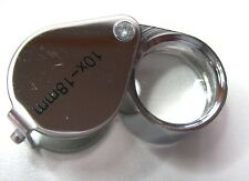 High Quality Folding Jewelers Loupe 10x mag,18mm glass