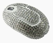Dazzle Wireless Crystal USB Computer PC Optical Mouse - Swarovski Elements