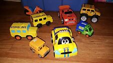 lot of 7 toy cars bus misc brands vintage childrens plastic race motorcycle clea