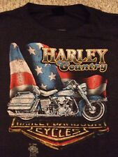 1985 Harley Davidson 3D Emblem Harley Country T-Shirt Perry HD Michigan RARE (L)