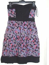 Kimchi Blue Urban Outfitters Black Purple Pink Floral Dress S Small