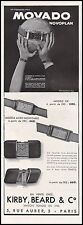 Publicité Montre Movado montres  Watch photo vintage print ad  1934  - 11h
