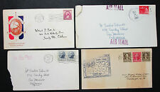 US postage Illustrated set of 4 covers Letters envelopes LUPO USA lettere (h-8264