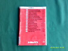 Hilti SF40000A C7/24, C7/36-ACS operating instructions en 15 langues
