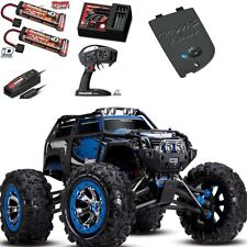 Traxxas 1/10 Summit 4WD RTR RC Monster Truck w 2x Battery Charger Bluethooh BLUE