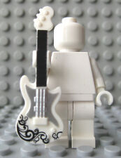 Custom ELECTRIC GUITAR For Lego Minifigures Rock & Roll -White/Silver/Black