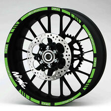 KAWASAKI NINJA ZX-6R WHEEL RIM DECALS STICKERS 16 GREEN LAMINATED STRIPES