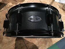 pdp double drive 14 x 5 snare drum, metallic gray, holes in bottom head