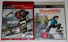 PS3 Game Lot - Skate 3 (New) Shaun White Skateboarding (New)