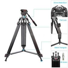 Studio Tripod with Fluid Drag Head for Nikon Canon Pentax Sony DSLR Camera 9H7L